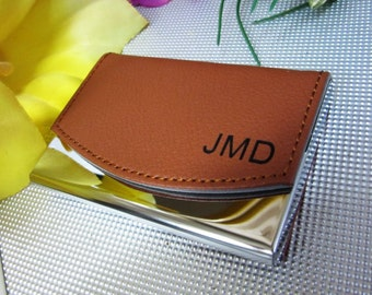 Personalized Business Card Holder, Leather Business Card Holder, Gift, Personalized Business Card Case,