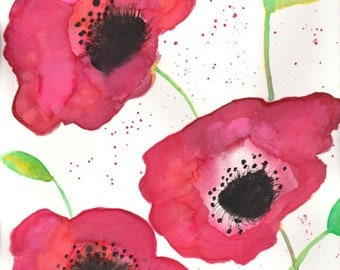 Card- Spring Poppies