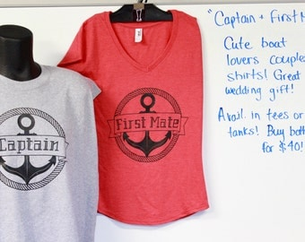 CAPTAIN & FIRST MATE couples tee-shirts