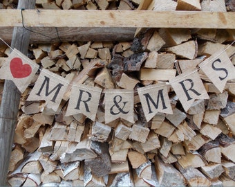 Girland Mr. & Mrs. - wedding / wedding decor, wedding / bridal / wedding accessory