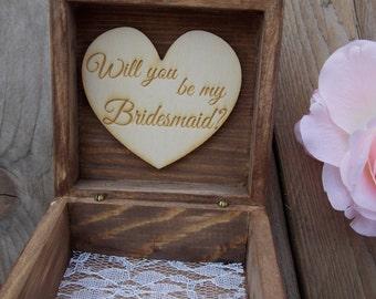 Wooden Box Bridesmaid-Wedding/Gift for bridesmaid/wedding accessoire