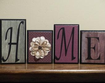 Home Decor Word Blocks Home custom letters mantel living room decor wedding house gift family room decor custom name block home decor