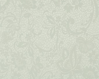 Daring Romantic Floral Lace Off White Wallpaper R1568