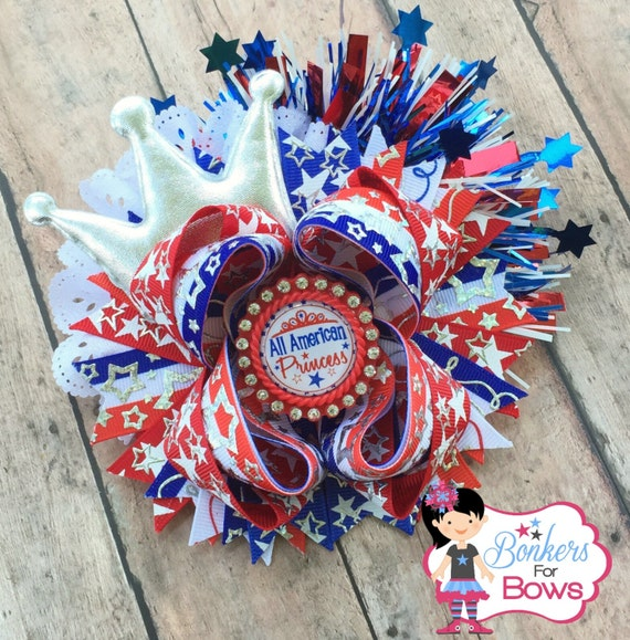 All American Princess Hair Bow