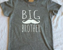 Big Brother Shirt or Onesie- 2 Design choices-arrow or mustache