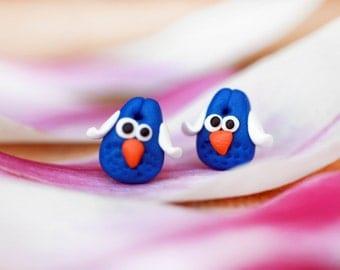 Handmade earrings, Owl earrings, Handmade jewellery, Owl earrings, Ladies earrings, Girls earrings, Handmade animal earring studs