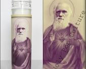 Saint Darwin Prayer Candle // Charles // Valentines Day gift Idea// Evolution