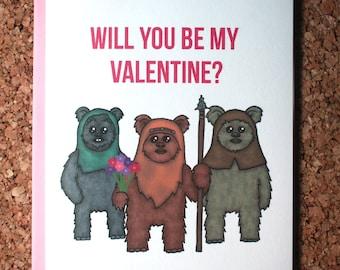 Star Wars Ewok Valentine's Day Card / Yub Nub, Wicket