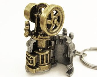 Steam Engine Articulating Keychain