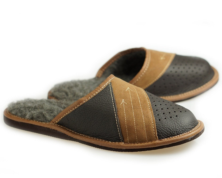 mens leather slippers 100 wool slippers moccasins