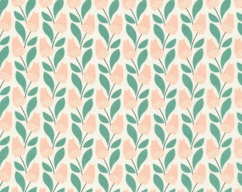 Bloomsbury in Pink, Park Life Collection by Elizabeth Olwen for Cloud 9 Organic Fabrics