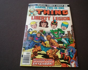 Marvel Two In One 20, The Thing & Liberty Legion, 1976, Marvel Comics C11