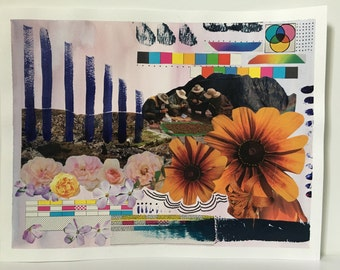 "Multi-Media Collage: ""Garden of Eden"""