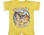 Cats Against Catcalls -- Onesie Bodysuit