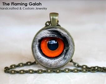 ANIMAL EYE Pendant •  Red Eye •  All Seeing Eye •  Evil Eye •  Eye Jewellery • Gift Under 20 • Made in Australia (P1260)
