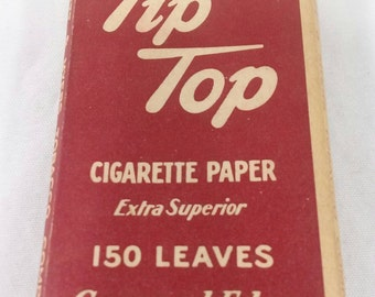 Vintage Tip top tobacco rolling papers cigarette Liggett Myers 1941 ww2 era