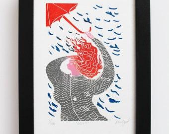 Red Umbrella Etsy