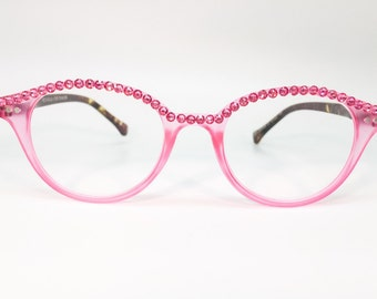 Tickled Pink (Pink Colored Reader Glasses with Bling)