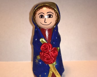 Our Lady of Guadalupe Peg Doll