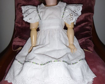 cute summer frock or apron for 24 inch doll