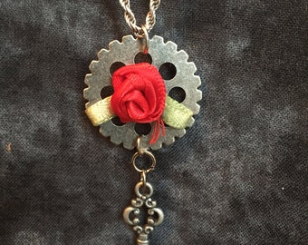 Red rose and key
