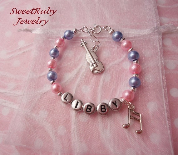 Design Your Own Custom Bangle Charm Bracelet Pick Your Charms: Personalized Violin Charm Bracelet Quality Charm Musical