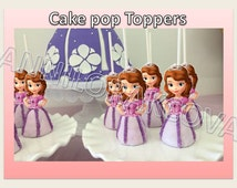 Printable Disney Sofia the first, PRINCESS Cupcake Topper, Cake Pop Topper, decoration, digital file, picks, girls, baby You Print, 40%OFF