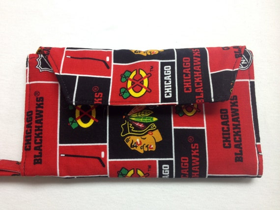 The Champion: Cell Phone Wallet (Chicago Blackhawks Print)