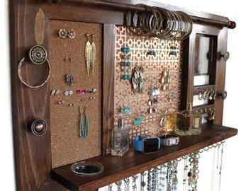 Jewelry Organizer Jewelry Shelf Wall Mounted Jewelry