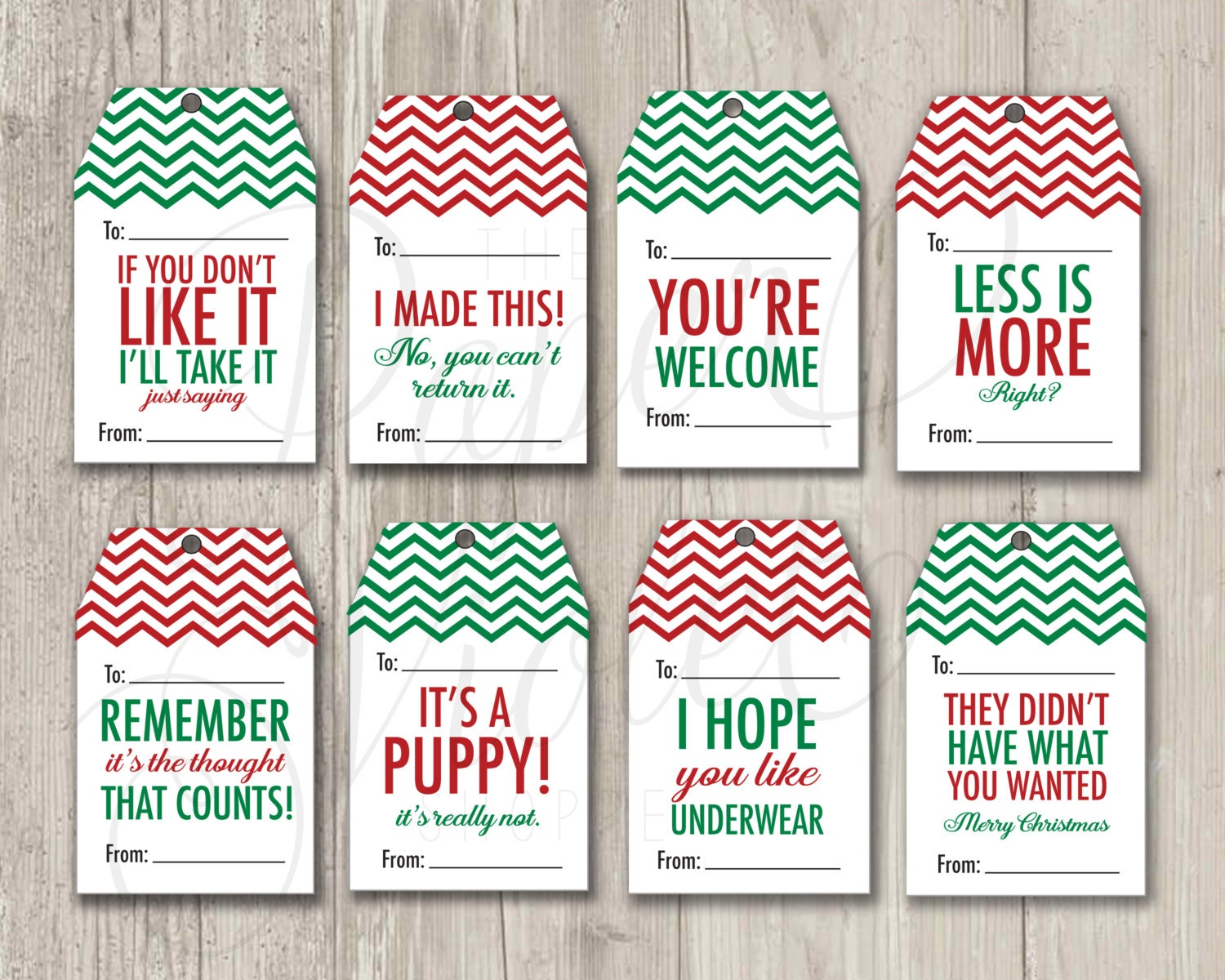 Christmas Tags: Funny Gift Tags Christmas Tags Mean Gift Tags Holiday Tags