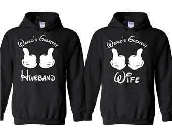 World's Greatest Wife Husband Couple HOODIE Couple Matching Valentines Tee Hoodies Sweatshirt
