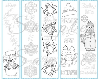 Winter Coloring Bookmarks Coloring Pages