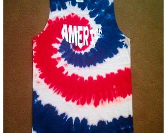SUMMER SALE!!! America tie dye tank