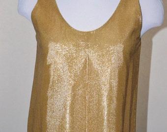 Vintage Estate Jeanette for St. Martin Gold Shell Shirt