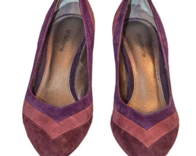 Vintage Estate Liz Claiborne Shade of Purple Heels