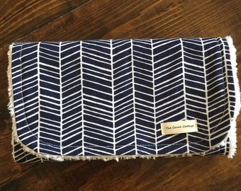 Navy Herringbone, Burp cloth