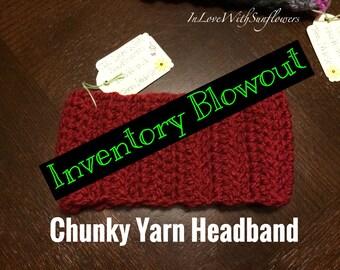 Headband - Earwarmer - Crochet Headband - Warm Earwarmer - Chunky yarn - Ready to ship