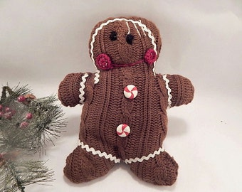Gingerbread Man Jumper Knitting Pattern : Knit gingerbread man Etsy