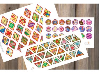 Girl Scout Badges_ Brownies_ Juniors_Cadette Stickers