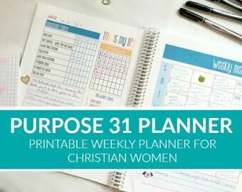 PDF: Purpose 31 Homemaking Planner {52 Weeks}