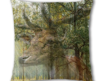 Stag Woods Design Cushion Cover (C785)