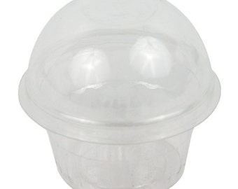 Clear Cupcake Container Plastic Cookie Candy Party Favor Box Free Shipping