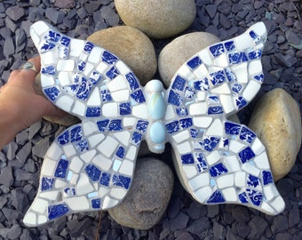 SOLD  Blue and white china butterfly