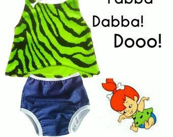 Pebbles toddler costume