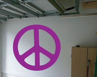 Peace Sign Wall Decal - sp2 (51)