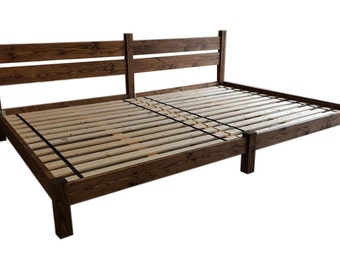 platform bed double bed co sleeping family bed shared bed smith family bed bed with headboard