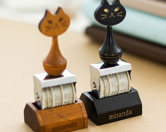 Date Stamp, Rubber Stamp, Cat Stamp