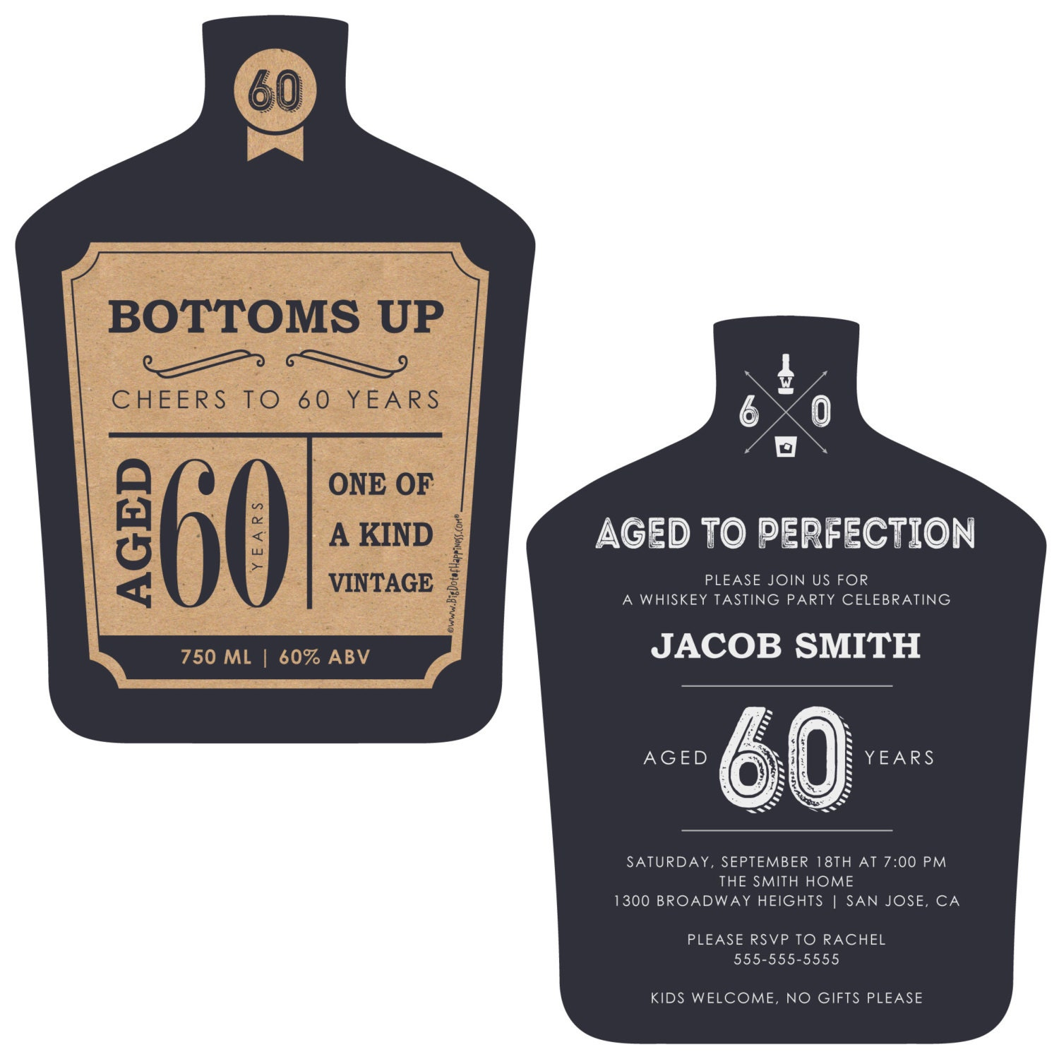 60th Milestone Birthday Aged To Perfection Invitations