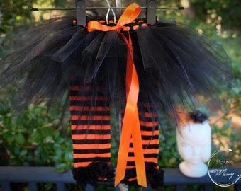 Newborn - 4T  Littlest Witch Tutu Set with headband and leg warmers. Witch costume,  Photo Shoot, Play, Dress up, Christmas , Halloween
