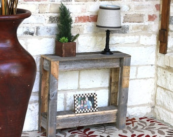 Natural Rustic Accent End Table